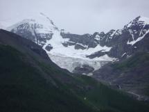 Close-up view of a glacier