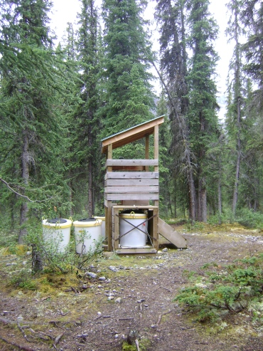 Open air toilet
