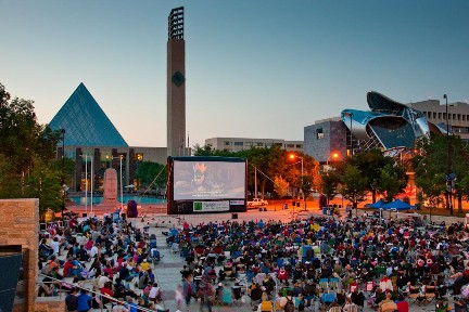 Free Family Movies in Churchill Square!