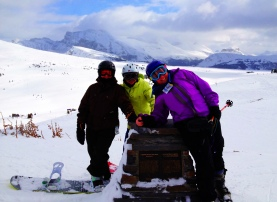 Ski and snowboard in the mountains: Sunshine Village, Banff National Park