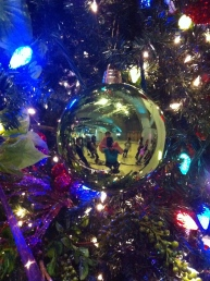 Reflections in a ball at Festival of Trees