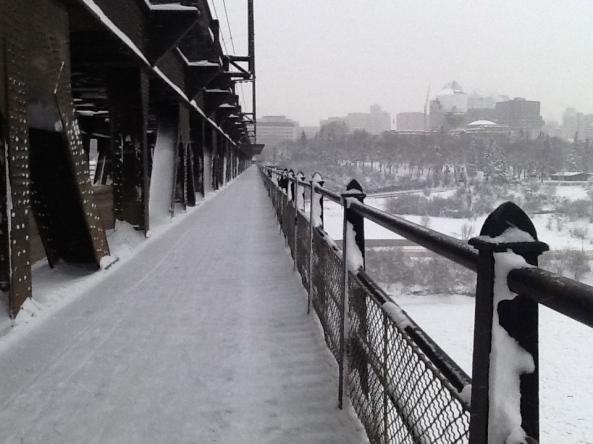 High Level Bridge in the snow