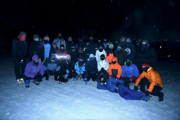 -37 degrees, 37 people exercising in the dark!  December 6/2013