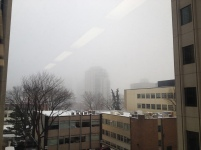 Winter fog downtown Edmonton, November/2013