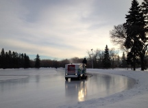 Victoria Park Oval: A Zamboni gives most Canadians a warm feeling, since it prepares the ice for a hockey game, or some recreational skating.
