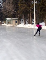 Speed skaters can check their speed at the rink!