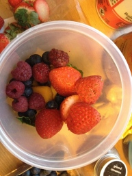 Add 1-2 cups of fresh and frozen fruit, multi-coloured is best.