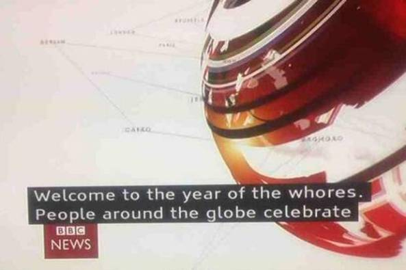 Chinese New Year BBC blunder: 'Welcome to the year of the whores' - Weird News - News - The Independent