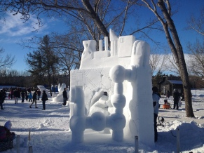Snow sculptures at Silver Skate Festival