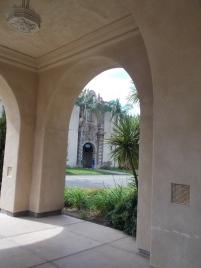 Covered walkway at Balboa Park