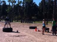 Exercisers at Coronado Island