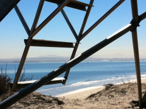 Lifeguard tower at Silver Strand State Beach