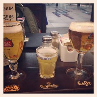 Belgian beer tasters in the Edmonton airport