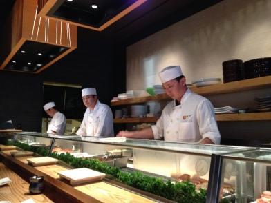 Sushi chefs at Nobu Restaurant