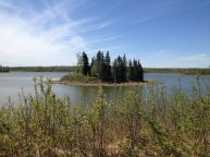 Islet Lake at Blackfoot Natural Area, an hour east of Edmonton