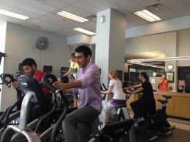 Stationary bikes at MacEwan Sports & Wellness