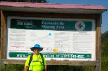 Edouardville, the starting point on day 2, and the end point on day 3