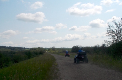 All-terrain vehicles and dirt bikes were the only other trail-users that we saw.