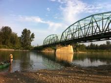 Put-in, at the Fort Assiniboine Bridge