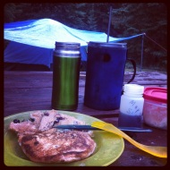Wet camping, still wonderful!