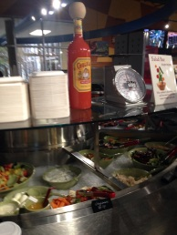 Salad bar: excellent choices for low cost