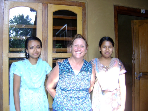 With my therapists at an Ayurvedic retreat, Kerala, India