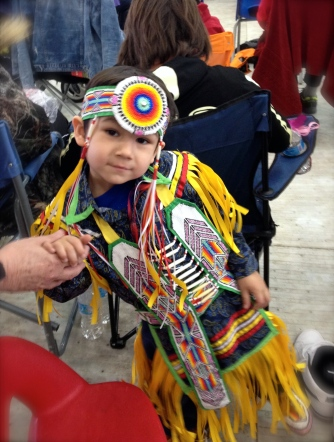 Little man at Ben Calf Robe Pow Wow