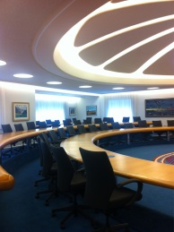 Caucus meeting room in Government House: 1970s style