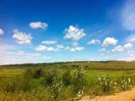 farms and sky