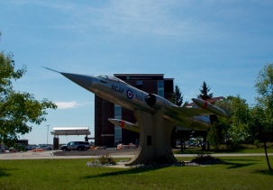Fighter jet, near the gates of CFB Cold Lake.