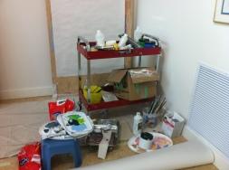 Alex Janvier's workspace