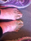 My feet were filthy, after this sandy stretch of trail