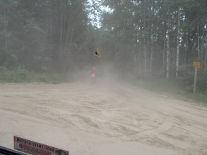 ATV users destroy the area northwest of the ferry