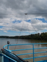 Looking down the river from the ferry