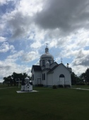 Myrnam Ukrainian Church & replica