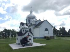 Myrnam Ukrainian Church & replica