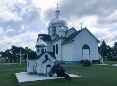 Myrnam Ukrainian Church, and replica