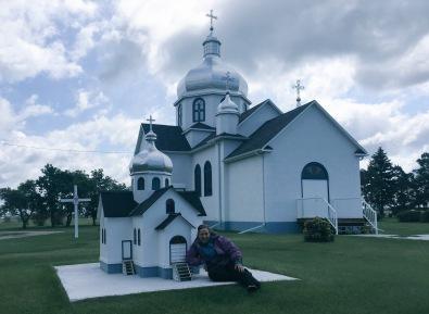 Myrnam Ukrainian Church, and replica