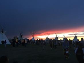 Tipis at sunset