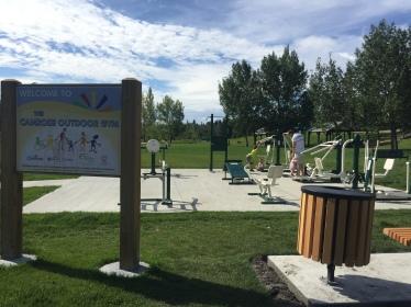 Outdoor park near Mirror Lake: Camrose