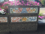 Beautiful painted ceramic tiles: downtown Camrose