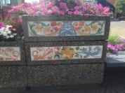 Beautiful painted ceramic tiles: downtown Camrose
