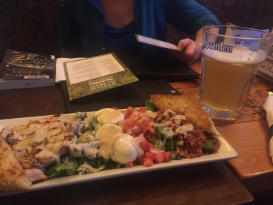 Dinner and a drink at O'Byrnes with the Happy Hour Book Club