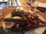 Bison & Blue Cheese Burger, Cilantro & Chive