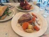 Pork steak, smoked turkey, The Local Omnivore