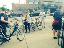 Over-full bike parking at Situation Brewing