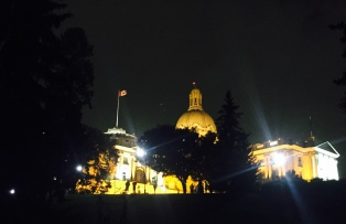 Night at the Alberta Legislature