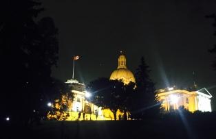Night at the Alberta Legislature