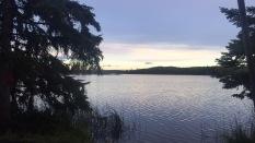Dusk on Kinnaird Lake