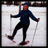 Snowshoeing is SO much fun! Poles are optional